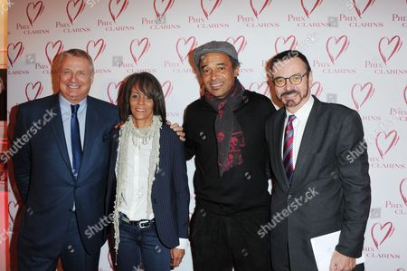 Yannick Noah and sister Nathalie Noah, Christian Courtin-Clarins and brother Olivier Courtin-Clarins