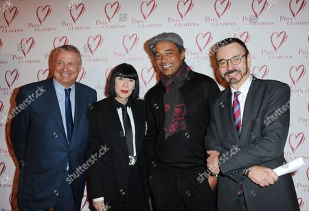 Yannick Noah, Chantal Thomss, Christian Courtin-Clarins and Olivier Courtin-Clarins