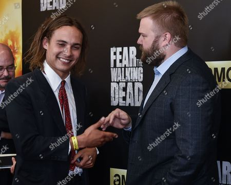 Frank Dillane and Robert Kirkman