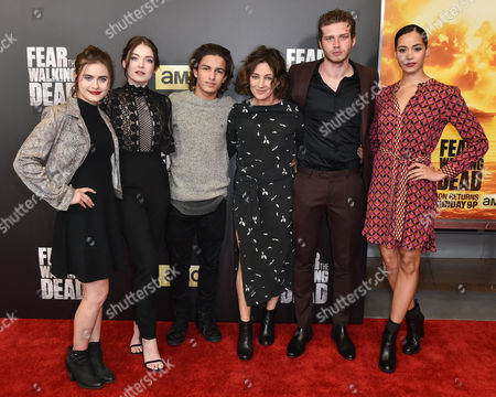 Stock Photo of Ally Ioannides, Sarah Bolger, Aramis Knight, Orla Brady, Oliver Stark and Madeleine Mantock