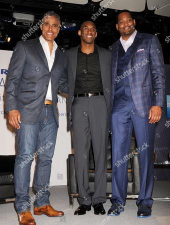 Rick Fox, Kobe Bryant and Robert Horry
