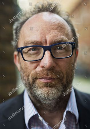 Stock Image of Wikipedia Founder Jimmy Wales near his office