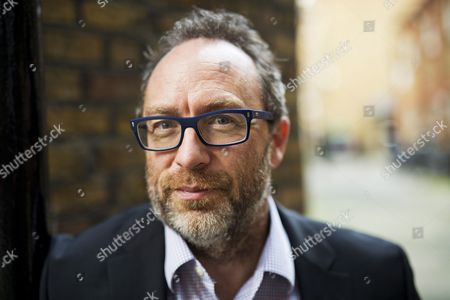 Wikipedia Founder Jimmy Wales near his office