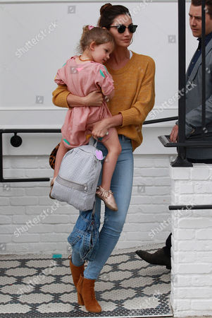 Stock Image of Lily Aldridge and Dixie Pearl Followill