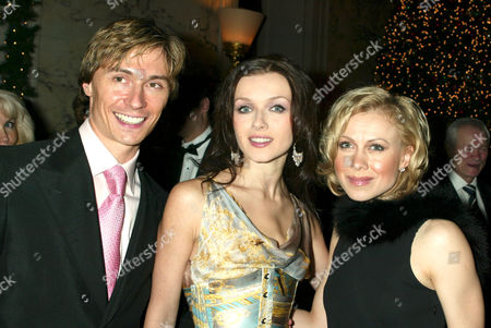 Maxim Beloserkovsky, Irina Dvorovenko, Principal Dancers with the American Ballet Theatre, and Oksana Baiul