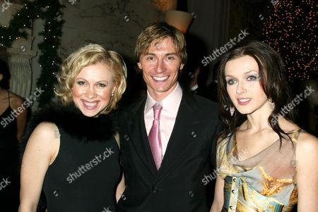 Oksana Baiul with Maxim Beloserkovsky and Irina Dvorovenko, Principal Dancers with the American Ballet Theatre