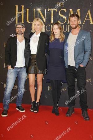 Stock Image of Cedric Nicolas-Troyan, Charlize Theron, Emily Blunt, Chris Hemsworth