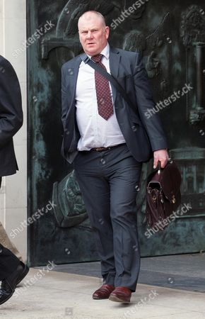 Stock Photo of Queen's farrier Stuart Craig leaving the disciplinary panel