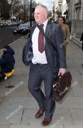 Queen's farrier Stuart Craig leaving the disciplinary panel