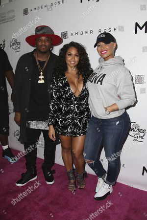 Amber Rose, Rosa Acosta and guest