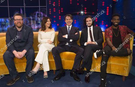 Frankie Boyle, Anna Friel, Jonathan Ross, Kit Harington and Tinie Tempah