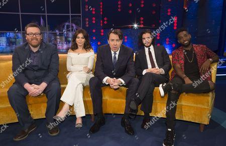 Stock Image of Frankie Boyle, Anna Friel, Jonathan Ross, Kit Harington and Tinie Tempah