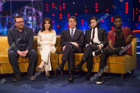 Stock Picture of Frankie Boyle, Anna Friel, Jonathan Ross, Kit Harington and Tinie Tempah