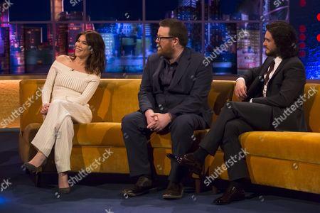 Anna Friel, Frankie Boyle and Kit Harington
