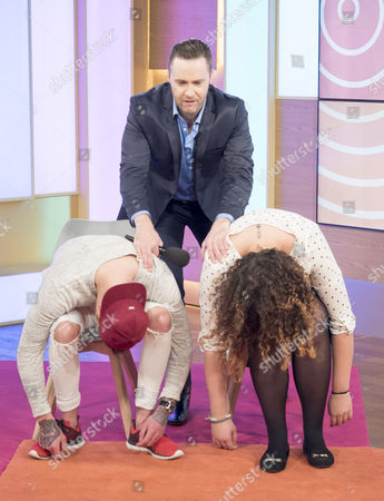 Keith Barry with Isabelle Markham and Ben Wilson
