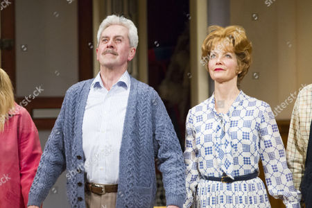 Stock Picture of Nicholas Le Prevost (Frank Foster) and Jenny Seagrove (Fiona Foster) during the curtain call