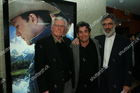 Peter McRobbie, SAG President Alan Rosenberg and Elliott Gould