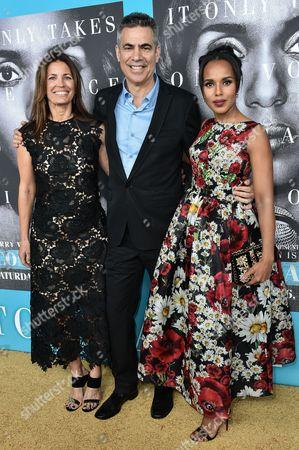 Susannah Grant, Michael Lombardo and Kerry Washington