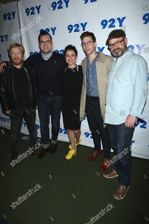 John Fawcett, Director, Kristian Bruun, Tatiana Maslany, Jordan Gavaris and Graeme Manson, screenwriter