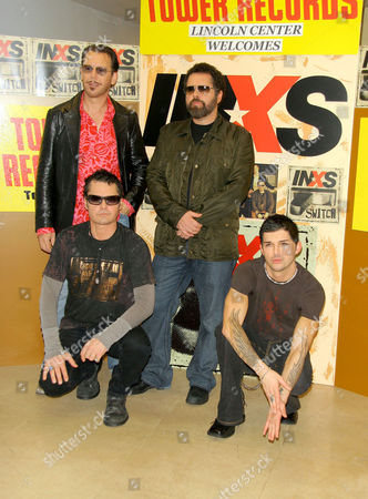INXS - Kirk Pengilly, Tim Farriss, Andrew Farriss and J. D. Fortune.