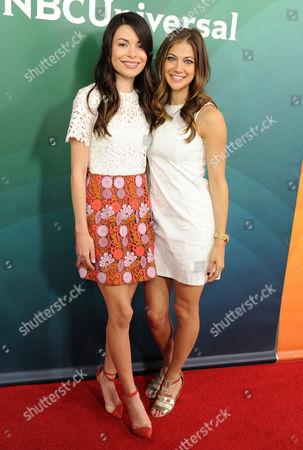 Stock Image of Miranda Cosgrove and Mia Serafino