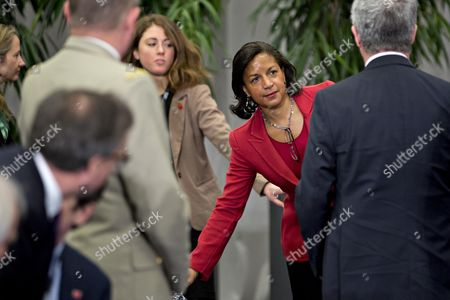 Susan Rice, United States national security advisor, arrives to the P5+1 multilateral meeting