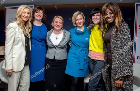 Jenny Halpern (founder, Halpern PR, Chair of Women in and board member Britain Stronger in Europe), Nicky Morgan Secretary of State for Education and Green Party leader Natalie Bennett and Labour MP Stella Creasy, Catherine Mayer and June Sarong