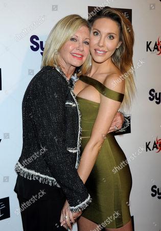 Stock Photo of Olivia Newton-John and daughter Chloe Rose Lattanzi