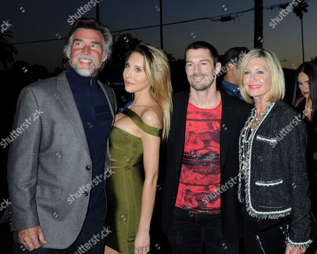 Olivia Newton-John, husband John Easterling, Chloe Rose Lattanzi and boyfriend James Driskill
