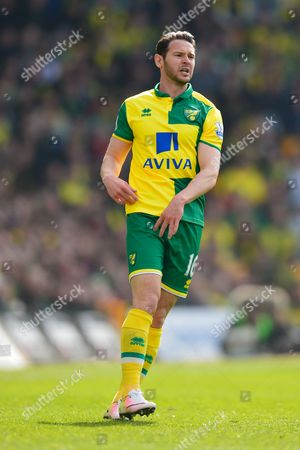 Matt Jarvis of Norwich City during the Premier League match between Norwich City and Newcastle United played at Carrow Road, Norwich on April 2nd 2016
