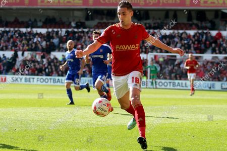 Stock Image of Nottingham Forest striker Federico Macheda    during the Sky Bet Championship match between Nottingham Forest and Brentford at the City Ground, Nottingham