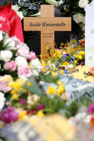 Editorial picture of Guido Westerwelle Funeral, Cologne, Germany - 02 Apr 2016