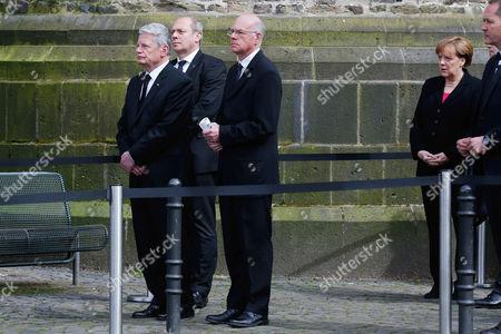 Joachim Gauck, Norbert Lammert, Angela Merkel