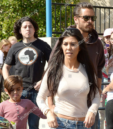 Mason Disick, Kourtney Kardashian and Scott Disick