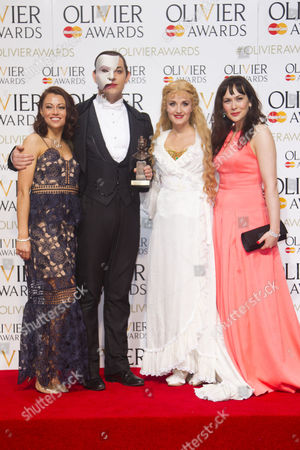 Ben Forster accepts the award for Audience Award, presented by Emma Hatton and Savannah Stevenson, for The Phantom of the Opera