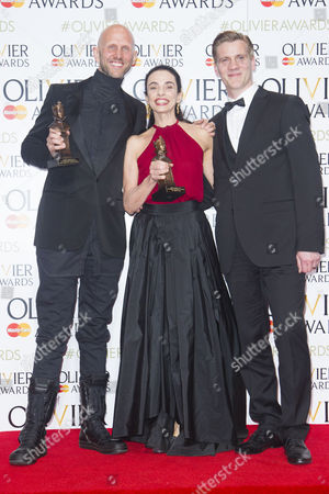 Wayne McGregor accepts the award for Best New Dance Production and Alessandra Ferri accepts the award for Outstanding Achievement in Dance, presented by Adam Cooper, for Woolf Works at the Royal Opera House