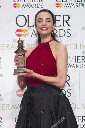 Alessandra Ferri accepts the award for Outstanding Achievement in Dance for Cheri and Woolf Works at the Royal Opera House