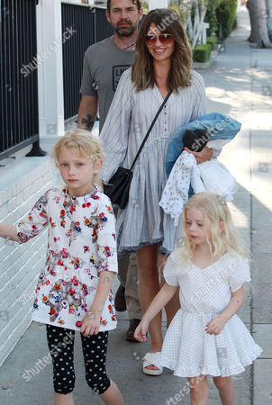 Rebecca Gayheart with daughters Billie Dane and Georgia Dane