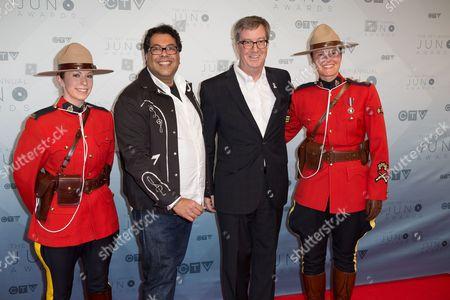 Naheen Nenshi Mayor of Calgary, and Jim Watson Mayor of Ottawa