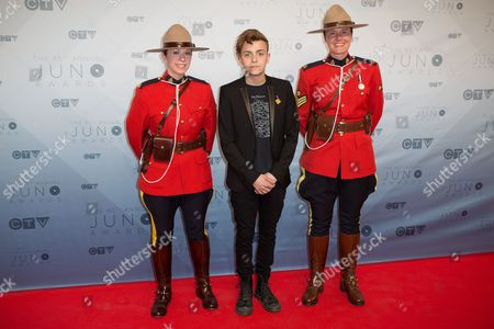 Scott Helman with Canadian Mounties
