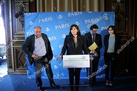 Jean-Louis Missika, Anne Hidalgo, Patrick Klugman, Celia Blauel