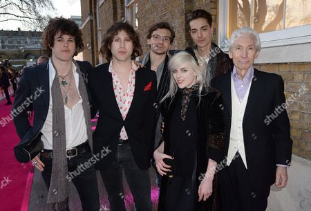 Stock Image of Charlotte Watts, Charlie Watts and guests