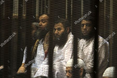 Editorial photo of Trial of members of the Muslim Brotherhood, Cairo, Egypt - 03 Apr 2016
