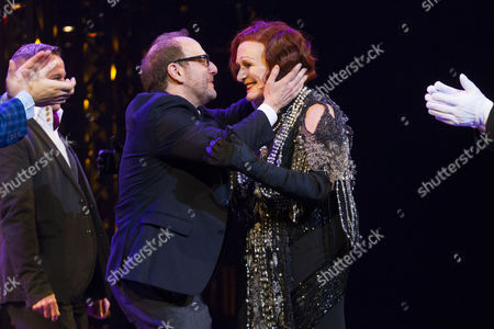 Lonny Price (Director) and Glenn Close (Norma Desmond) during the curtain call