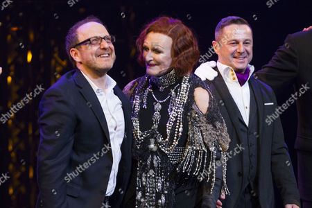 Lonny Price (Director), Glenn Close (Norma Desmond) and Stephen Mear (Choreographer) during the curtain call