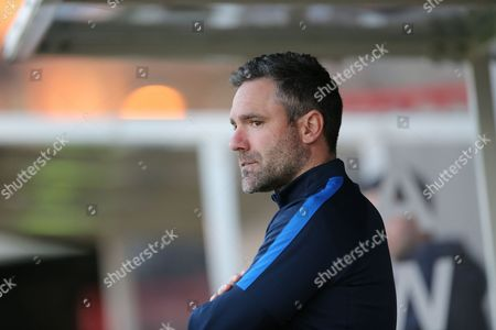 Assistant Manager David Dunn during the Barclays U21 Premier League match between U21 Brighton and Hove Albion and U21 Blackburn Rovers at the Checkatrade.com Stadium, Crawley