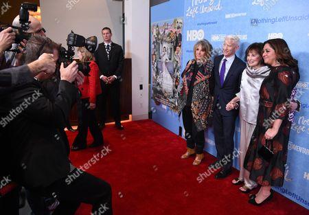 Sheila Nevins, Anderson Cooper, Gloria Vanderbilt, and Liz Garbus