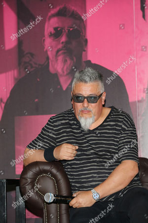 Mauricio Claveria member of 'La ley', band promote the latest album 'Adaptacion' at Plaza Condesa