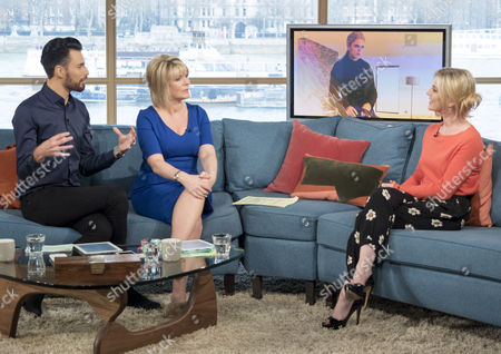Rylan Clark and Ruth Langsford with Emilia Fox