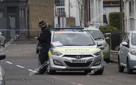 Police on Camplin Street in South East London